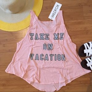 🆕Wildfox Take Me On Vacation Cassidy Tank